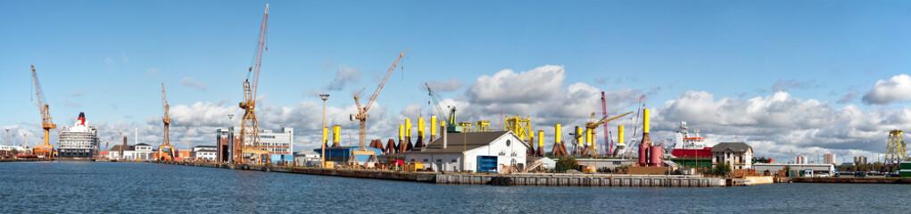 Hafenanlagen, Panorama
