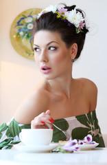 Кофе с пироженым