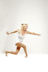 Mature woman dancing