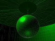 Green Disco Ball In Room Vector 03