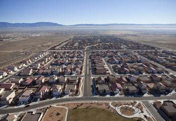 Western US Suburban Sprawl Aerial