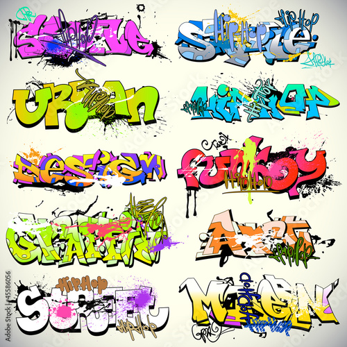 Graffiti wektora ściany wektora sztuki miejskiej
