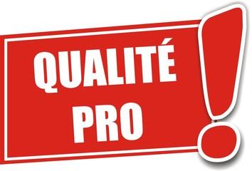 étiquette qualité pro