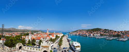 Panorama of Trogir in Croatia
