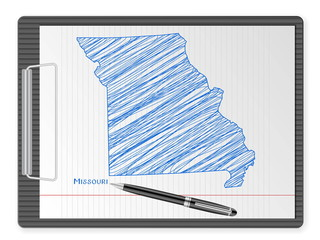 clipboard Missouri map