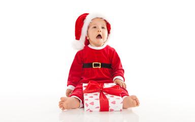 trauriges baby zu weihnachten