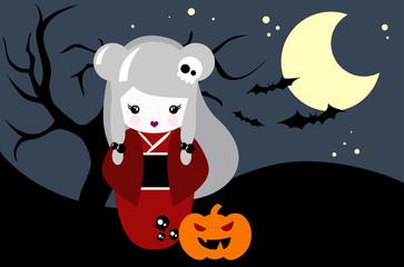 Halloween Kokeshi
