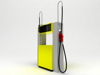 Pompa di Benzina vuota, isolata, neutra. Distributore
