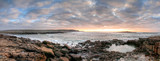 Panorama of Atlantic ocean in Doolin at sunset