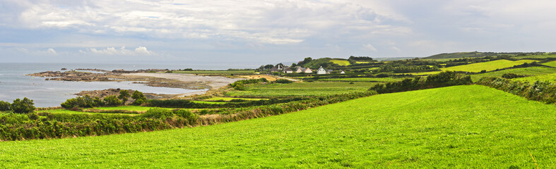 Typical Landscape Panorama in Normandy, France