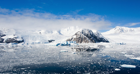 Mountains panorama  in Antarctica