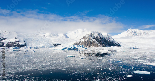 Mountains panorama  in Antarctica