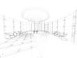 ufficio sala riunioni rendering wireframe tratto