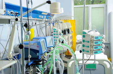 Reanimation ward with modern equipments