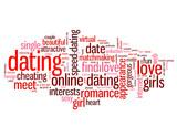 DATING Tag Cloud (date love boyfriend girlfriend couple romance) poster