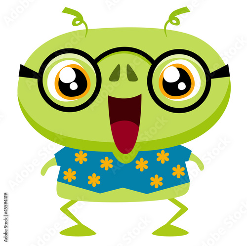 Cute cartoon monster  Vector illustration