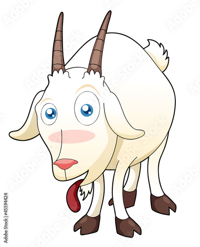 illustration of funny goat vector