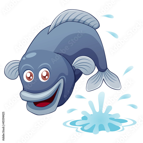 illustration of fish jumping vector