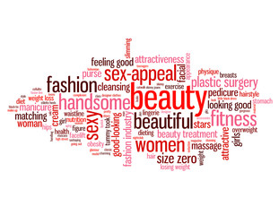 """BEAUTY"" Tag Cloud (fashion physical appearance clothes girls)"