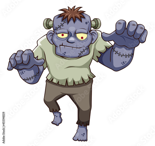illustration of Cartoon zombie  Vector
