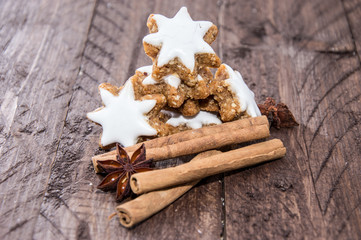 Cinnamon Sweets with christmas decoration