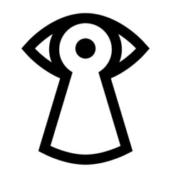 Spy icon - eye looking through keyhole