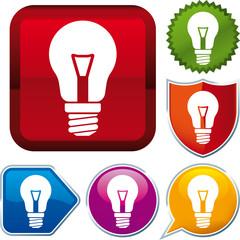 Incandescent lightbulb icon