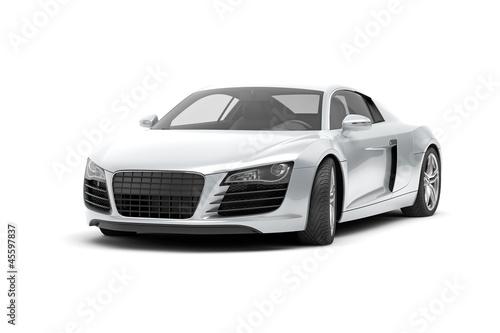 luxury sport car on white background 3d rendering - 45597837