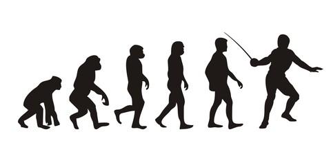 Vom Affen zum Fechter (Menschen)