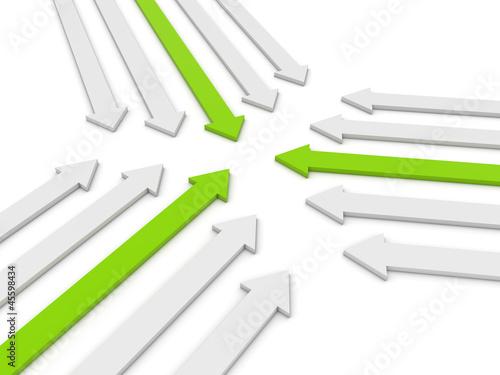 leadership concept 3d render illustration