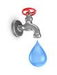 Cromed tap.