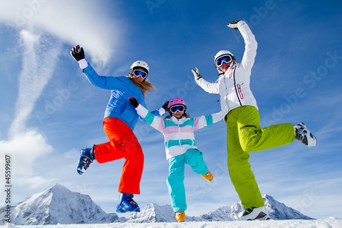 Ski, snow, sun and winter fun