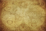 Fototapety vintage map of the world 1630..