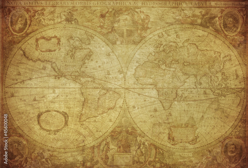vintage map of the world 1630..