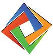Diamond square geometric logo vector