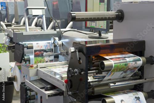 Leinwanddruck Bild Druckmaschine