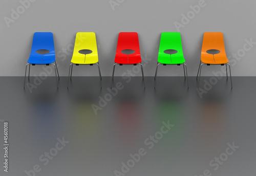 Die Stuhlreihe