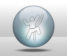 "Hovering Sphere Button ""Rock Climbing"""