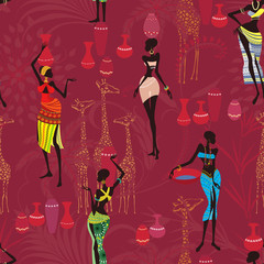 Background with african women