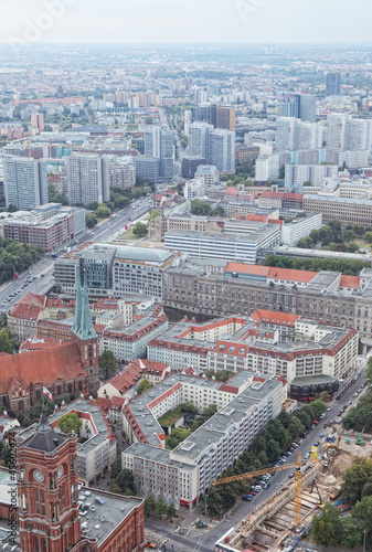 View of Berlin from an observation deck of  television tower