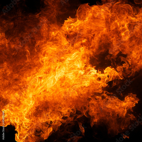 obraz PCV blaze fire flame texture background