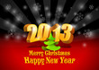 2013 3D numbers. Happy New Year card template. Vector. Editable.
