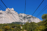 ropeway to the top of Ai-Petri in Crimea mountains, Ukraine