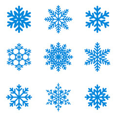 Snowflakes icon collection. Vector shape.