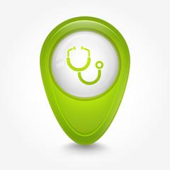 Puntatore 3D_verde stetoscopio