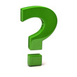 Green question mark sign