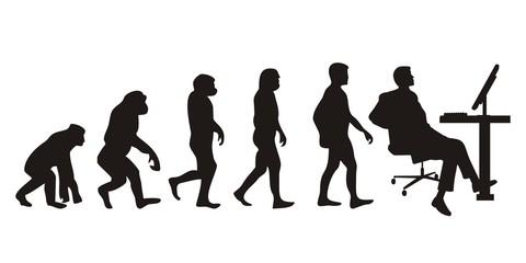 Vom Affen zum Büromann (Menschen)