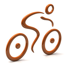 Orange cyclist icon