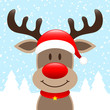 Reindeer Hat Winter Forest Snowfall
