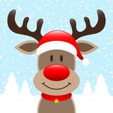 Reindeer Hat Winter Forest Snowfall